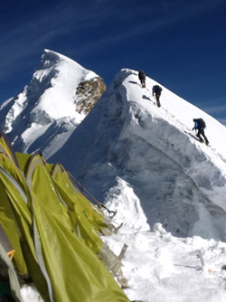 climbing on Lhotse face